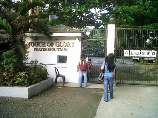 The entrance to Touch of Glory Prayer Mountain