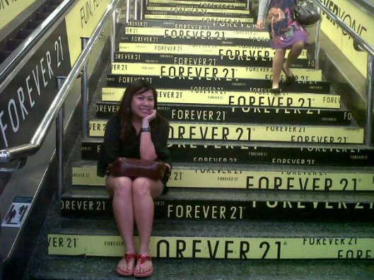 Carl finding Forever 21 in Singapore
